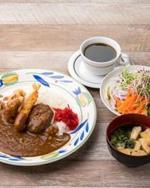 ハンバーグ&鶏の唐揚げ&海老フライの王様カレー